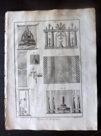 Diderot C1790 Antique Print. Pieces d'Artifice. Fountains 03
